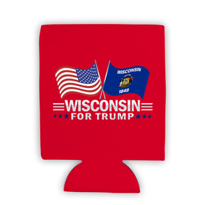 Wisconsin For Trump Limited Edition Can Cooler 4 Pack