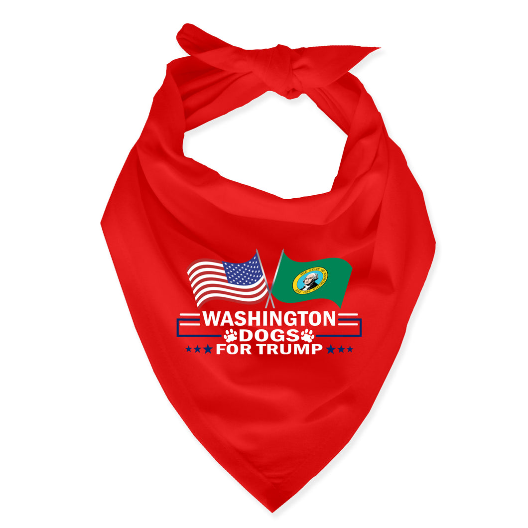 Washington For Trump Dog Bandana Limited Edition