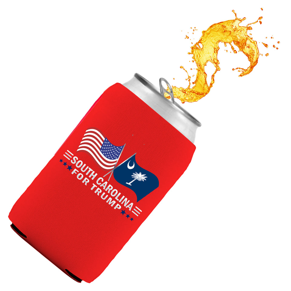 South Carolina For Trump Limited Edition Can Cooler 4 Pack