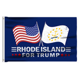 Rhode Island For Trump 3 x 5 Flag - Limited Edition Dual Flags Lowest Price Ever!