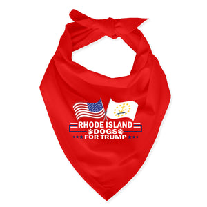 Rhode Island For Trump Dog Bandana Limited Edition Sale