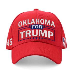 Oklahoma For Trump Limited Edition Embroidered Hat