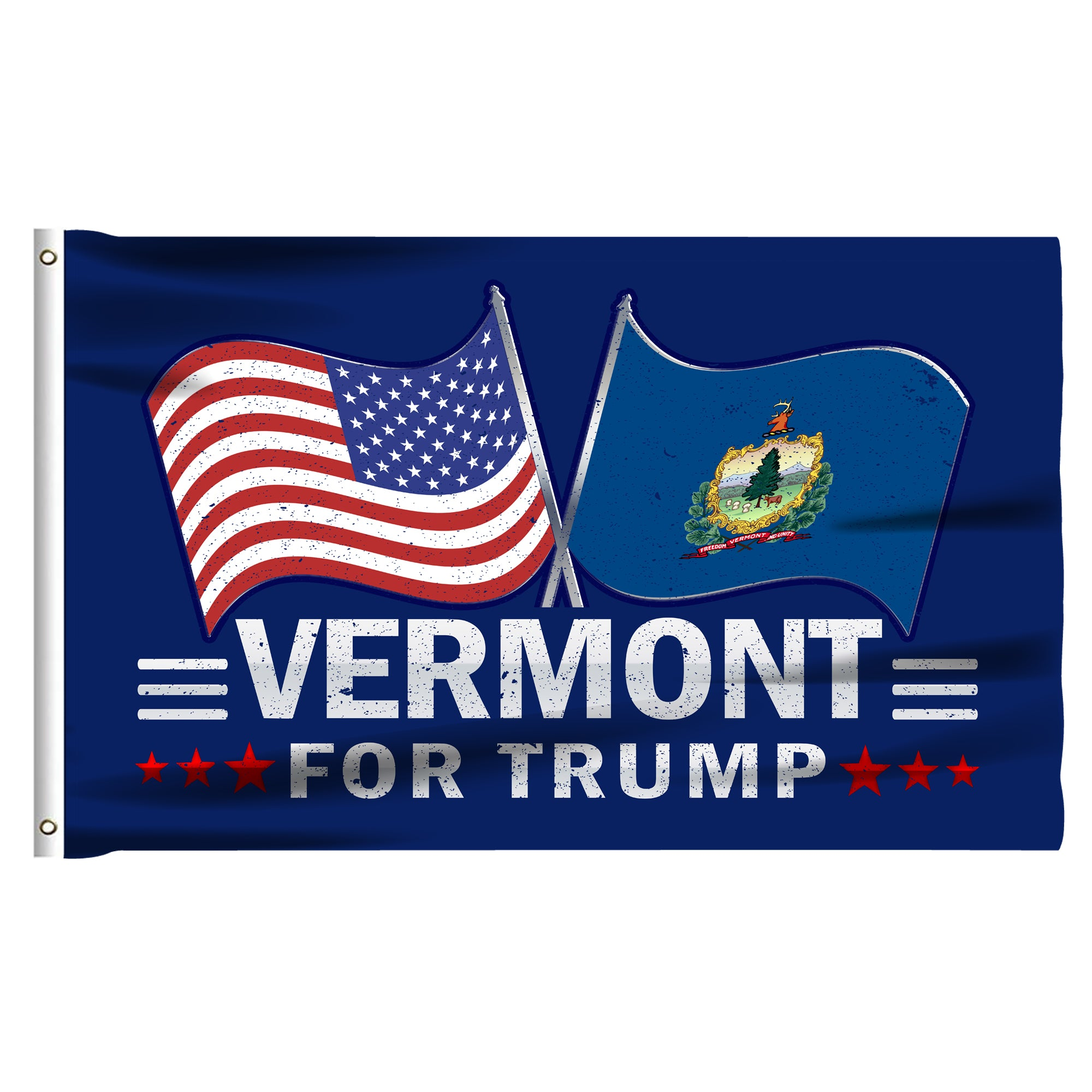 Vermont For Trump 3 x 5 Flag - Limited Edition Dual Flags