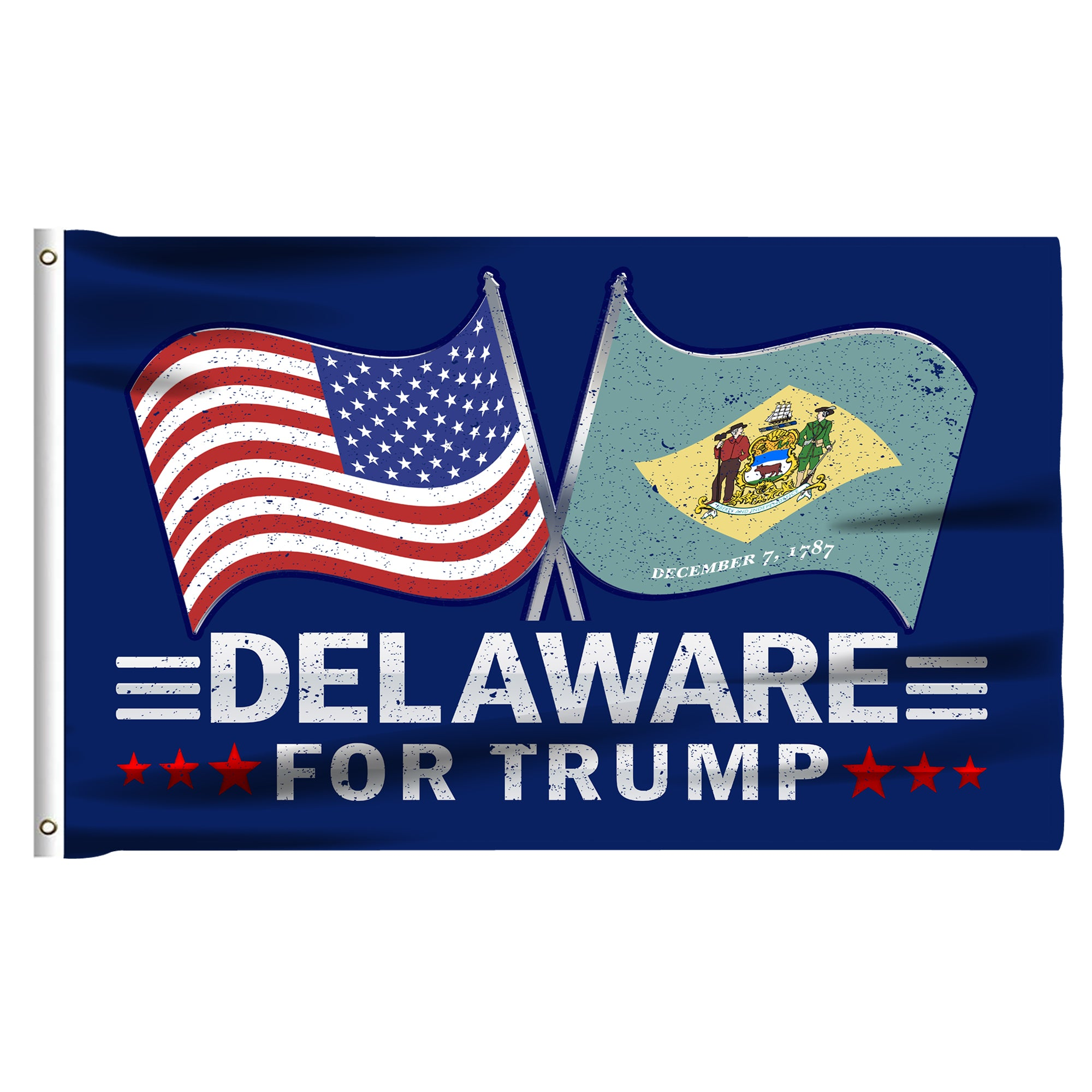 Delaware For Trump 3 x 5 Flag - Limited Edition Dual Flags