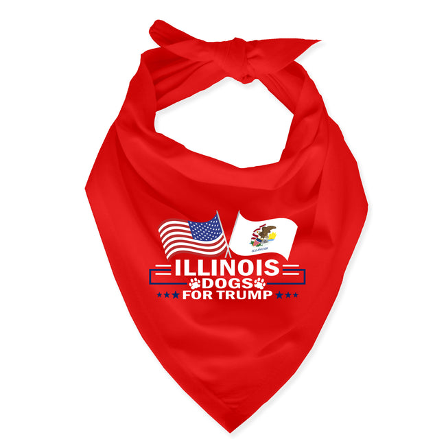 Illinois For Trump Dog Bandana Limited Edition Sale