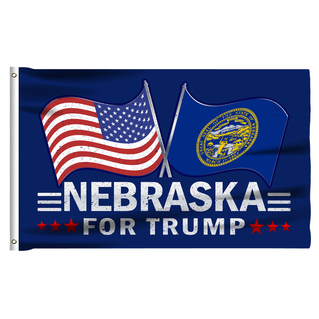 Nebraska For Trump 3 x 5 Flag - Limited Edition Dual Flags