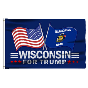 Wisconsin For Trump 3 x 5 Flag - Limited Edition Dual Flags