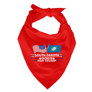 South Dakota For Trump Dog Bandana Limited Edition