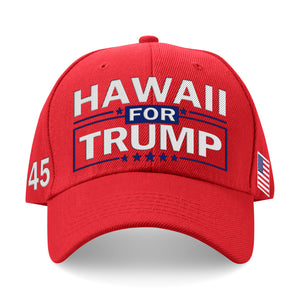Hawaii For Trump Limited Edition Embroidered Hat