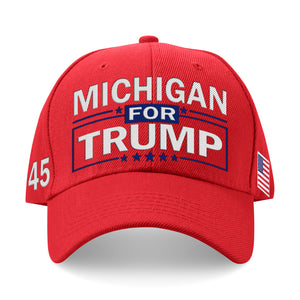 Michigan For Trump Limited Edition Embroidered Hat Sale