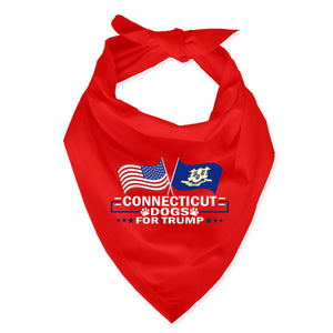 Connecticut For Trump Dog Bandana Limited Edition