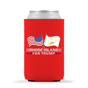 Rhode Island For Trump Limited Edition Can Cooler 4 Pack