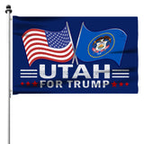 Utah For Trump 3 x 5 Flag - Limited Edition Dual Flags