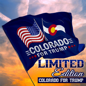 Colorado For Trump 3 x 5 Flag - Limited Edition Dual Flags