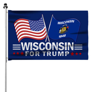 Wisconsin For Trump 3 x 5 Flag - Limited Edition Dual Flags Sale