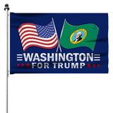 Copy of Washington For Trump 3 x 5 Flag - Limited Edition Dual Flags Sale