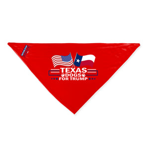 Texas For Trump Dog Bandana Limited Edition