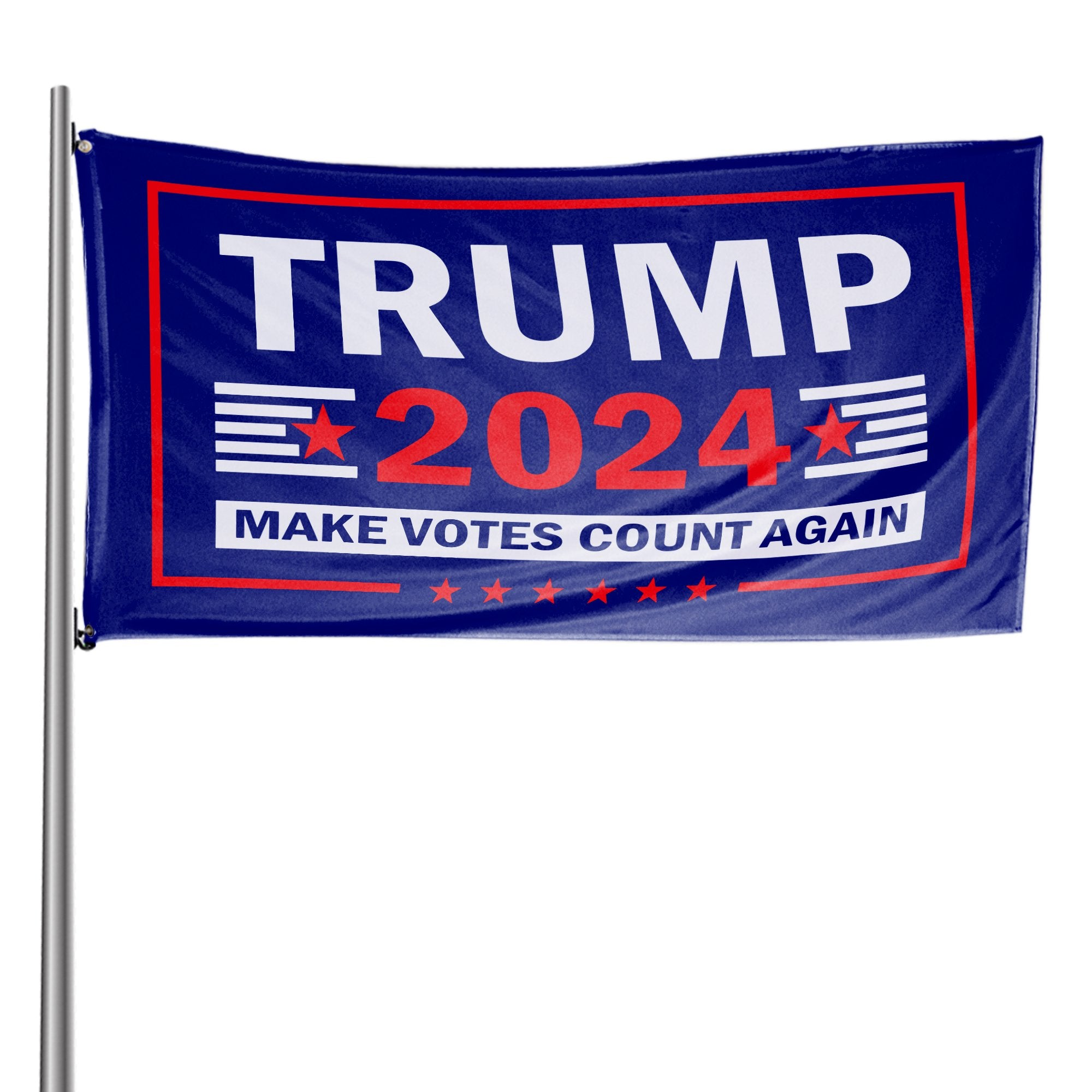 Trump 2024 Make Votes Count Again & West Virginia For Trump 3 x 5 Flag Bundle
