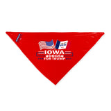 Iowa For Trump Dog Bandana Limited Edition