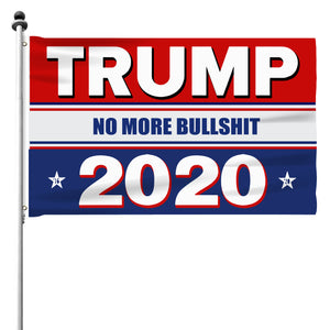 Trump 2020 No More BS - 3 x 5 Flag