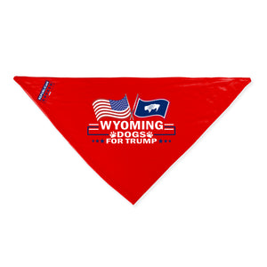 Wyoming For Trump Dog Bandana Limited Edition