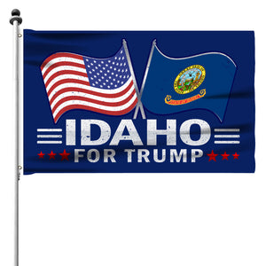 Idaho For Trump 3 x 5 Flag - Limited Edition Dual Flags Lowest Price Ever!