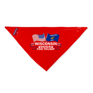 Wisconsin For Trump Dog Bandana Limited Edition Sale