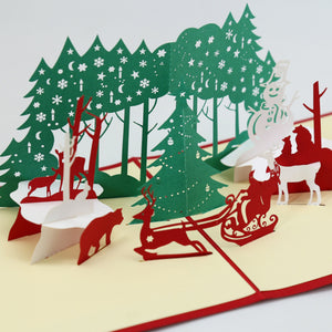 Winter Wonderland Pop Up Christmas Card