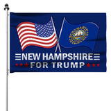 New Hampshire For Trump 3 x 5 Flag - Limited Edition Dual Flags Sale