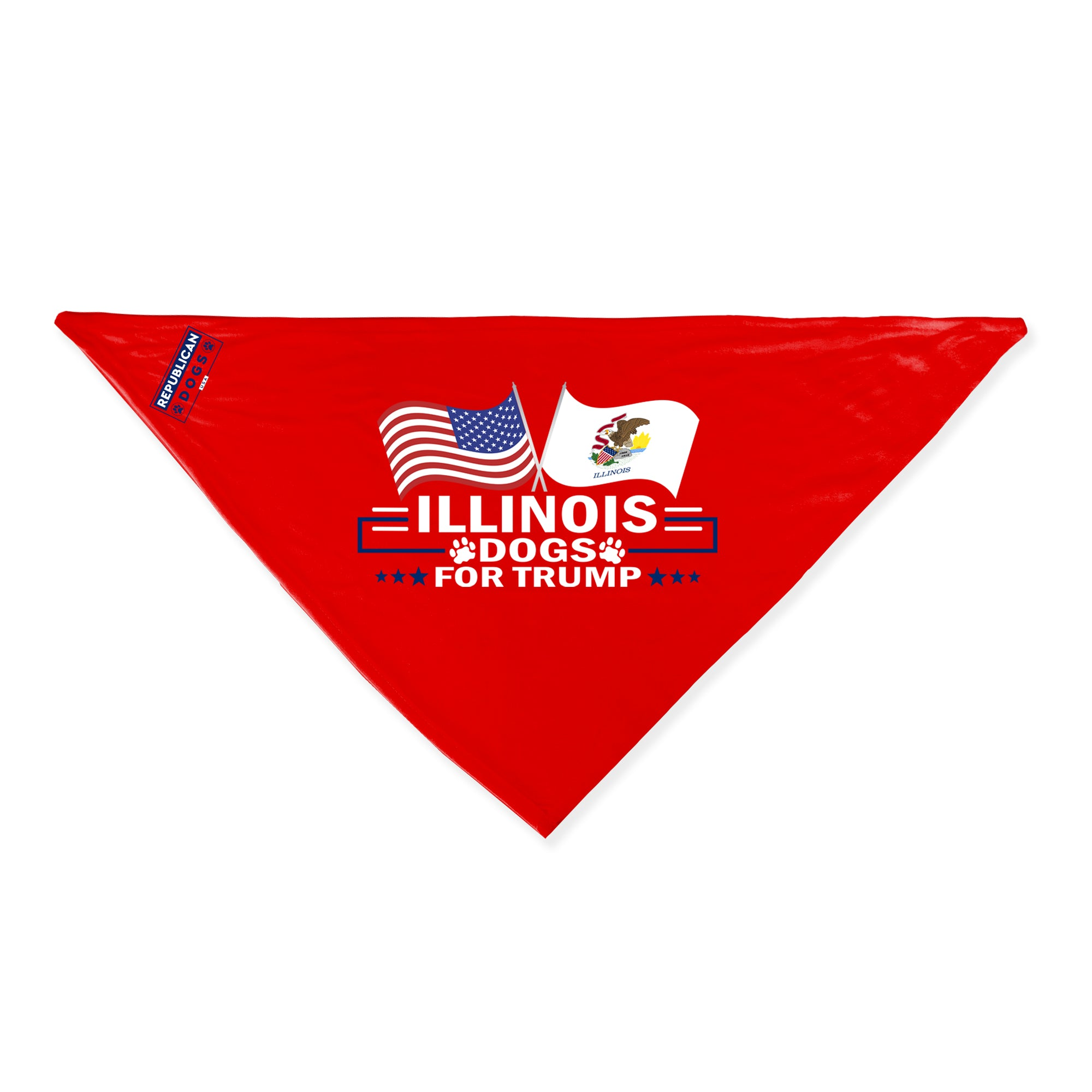 Illinois For Trump Dog Bandana Limited Edition