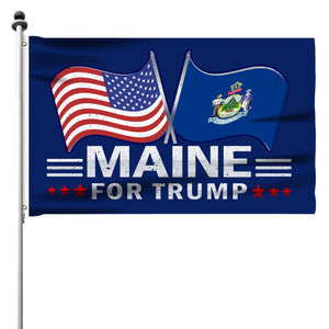 Maine For Trump 3 x 5 Flag - Limited Edition Dual Flags