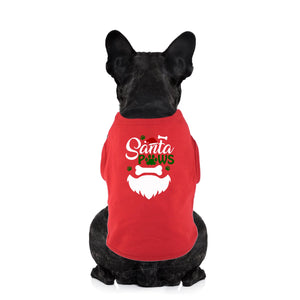 Santa Paws Christmas Dog Shirt