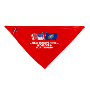 New Hampshire For Trump Dog Bandana Limited Edition
