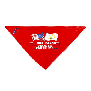 Rhode Island For Trump Dog Bandana Limited Edition
