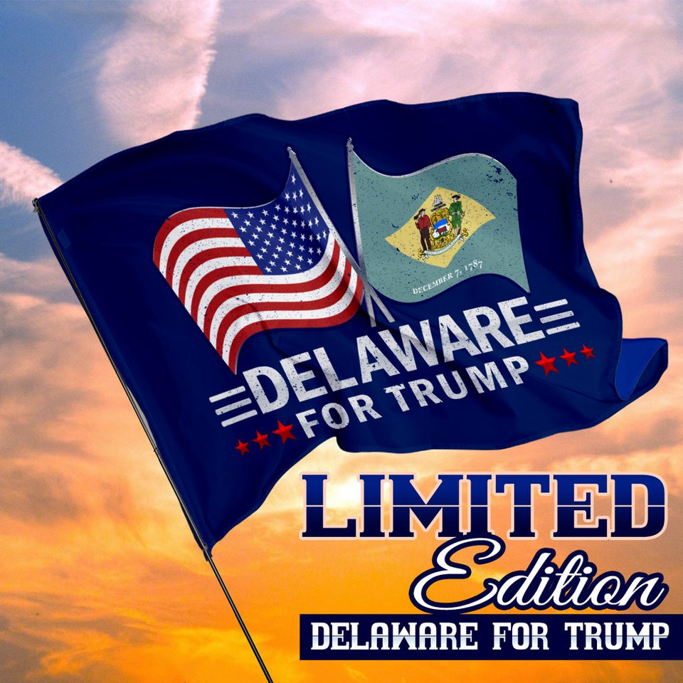50 States For Trump 3 x 5 Flags - Limited Edition Dual Flags - All States Available