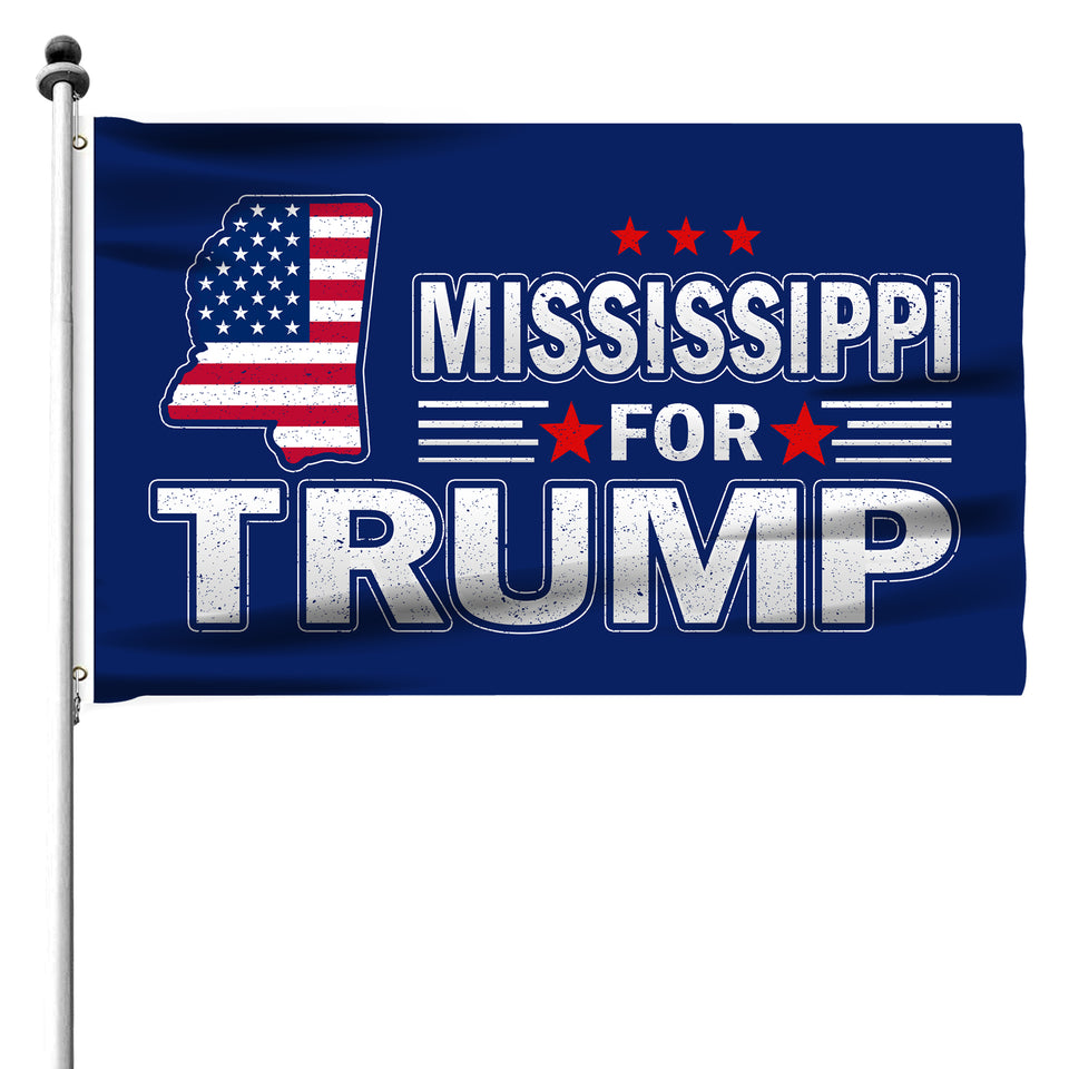 Mississippi For Trump 3 x 5 Flag - Limited Edition Flags