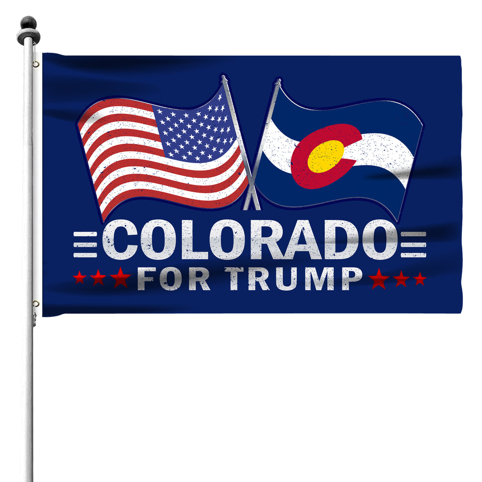Colorado For Trump 3 x 5 Flag - Limited Edition Dual Flags Sale
