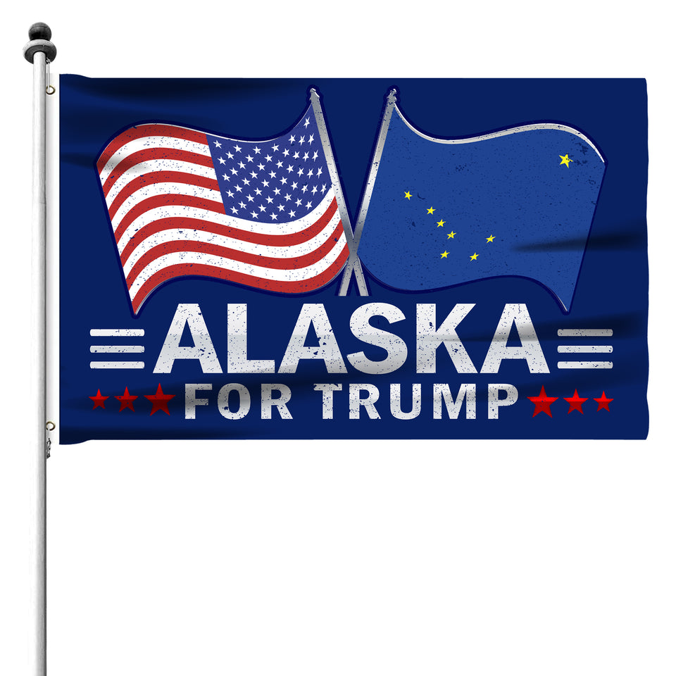 Alaska For Trump 3 x 5 Flag - Limited Edition Dual Flags Sale
