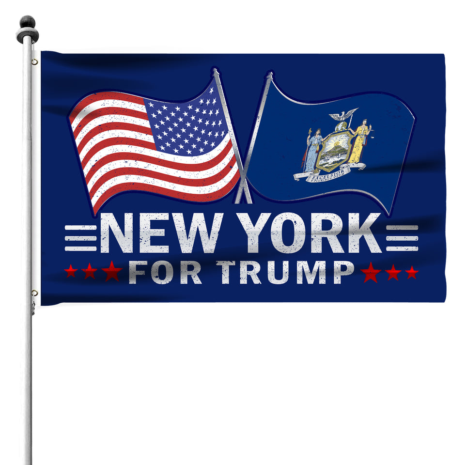 New York For Trump 3 x 5 Flag - Limited Edition Dual Flags Sale