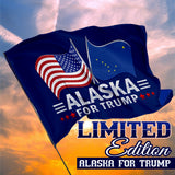 Alaska For Trump 3 x 5 Flag - Limited Edition Dual Flags Lowest Price Ever!