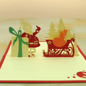 Thumbs Up Jolly Santa Pop Up Christmas Card