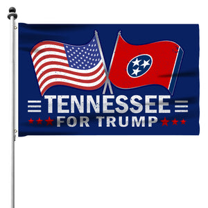 Tennessee For Trump 3 x 5 Flag - Limited Edition Dual Flags Sale