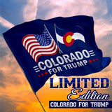 Colorado For Trump 3 x 5 Flag - Limited Edition Dual Flags Lowest Price Ever!