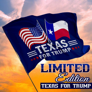 Texas For Trump 3 x 5 Flag - Limited Edition Dual Flags Sale