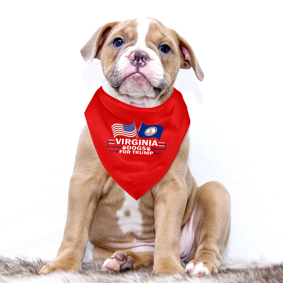 Virginia For Trump Dog Bandana Limited Edition Sale