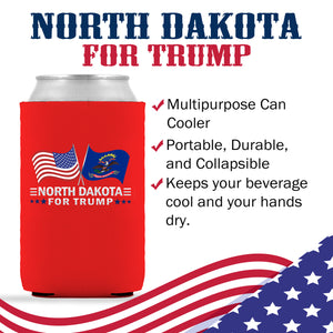 North Dakota For Trump Limited Edition Can Cooler 4 Pack