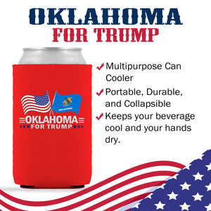 Oklahoma For Trump Limited Edition Can Cooler 4 Pack