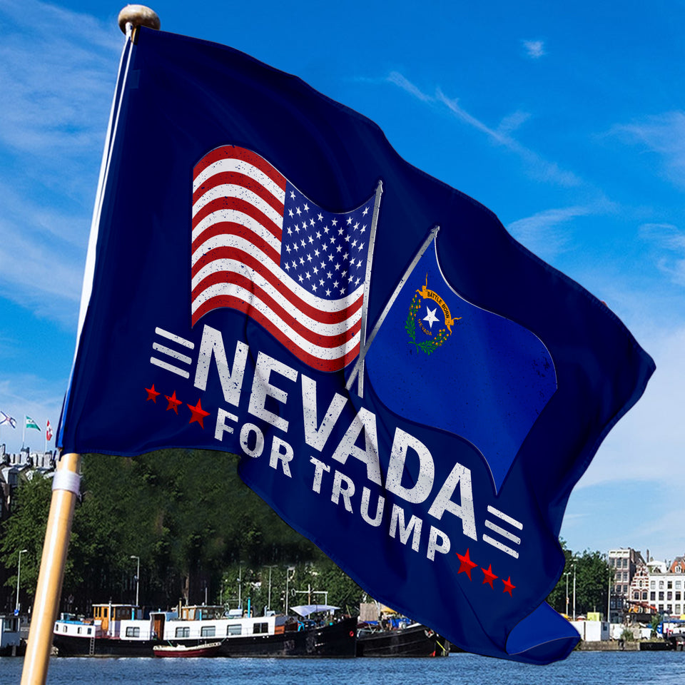 Nevada For Trump 3 x 5 Flag - Limited Edition Dual Flags Lowest Price Ever!