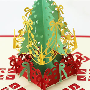Festive Tree Pop Up Christmas Card