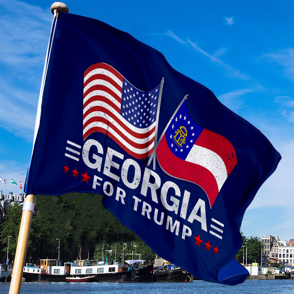 Georgia For Trump 3 x 5 Flag - Limited Edition Dual Flags Lowest Price Ever!